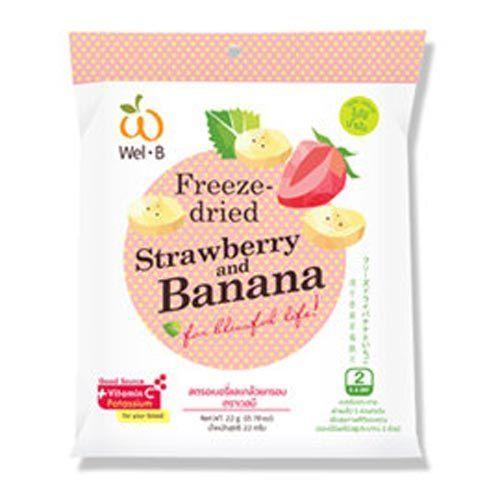 英國皇室果乾 Wel.B 香蕉草莓乾 22g/包