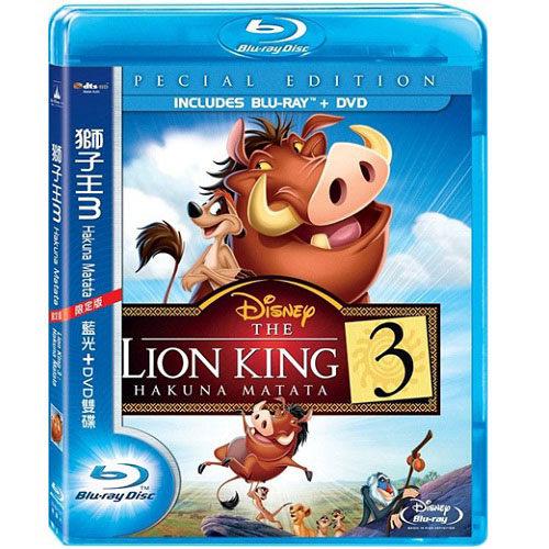 獅子王3 Hakuna Matata 藍光BD附DVD限定版Lion King 3 獅子王 3 第三集第3集 辛巴 (音樂影片購)