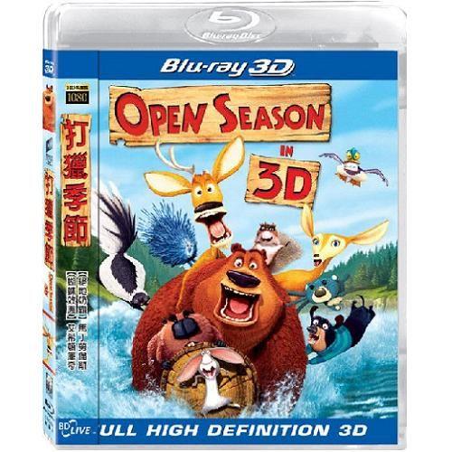 打獵季節3D版 藍光BD Open Season 獅子王怪獸電力公司導演聯手打造馬丁羅倫斯配音(音樂影片購)