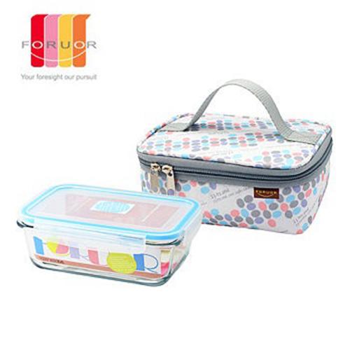 『FORUOR』☆點馨耐熱玻璃保鮮盒提袋組 800ml FU-H800M **免運費**