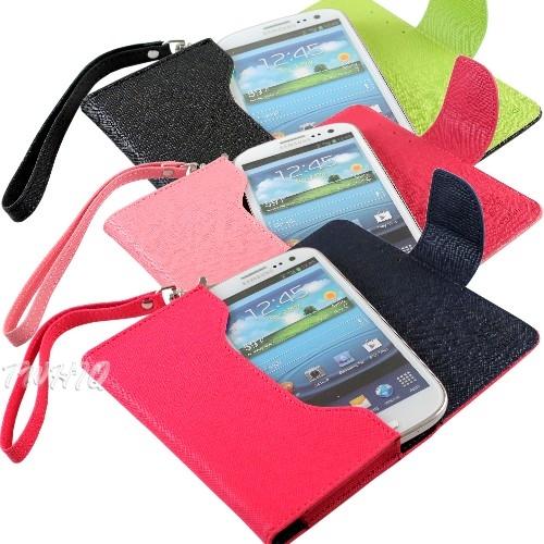 雙色系列橫款手機皮套(附掛繩) LG P920 Optimus 3D