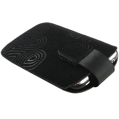 孔雀紋抽拉式雙面絨布手機套◆iPhone 3G /4G也適用◆『免運優惠』