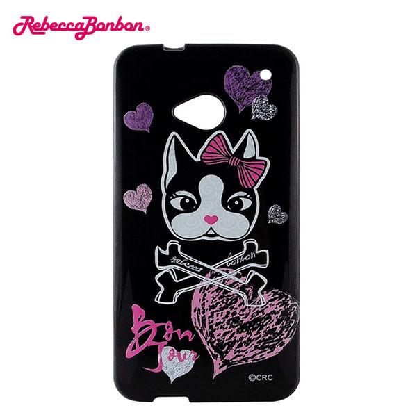 【Rebecca Bonbon】NEW HTC ONE 時尚彩繪保護套-搖滾黑◆送i-COSE (真皮) 抽拉式 皮套A3◆