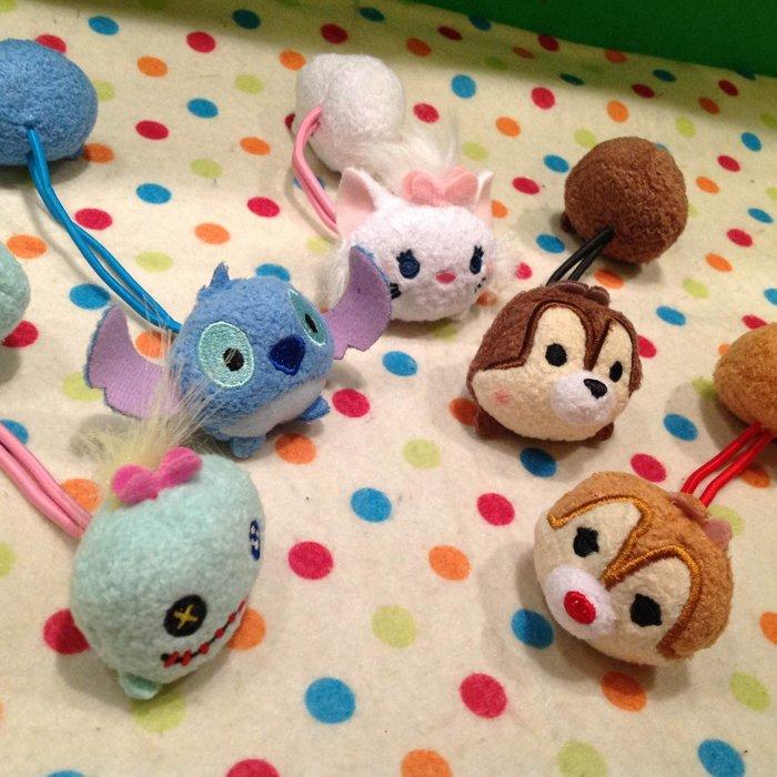 =優生活=日本迪士尼可愛tsum tsum 醜丫頭 史迪奇 瑪麗貓 奇奇蒂蒂 松鼠 雙頭髮束 髮圈 兒童髮飾