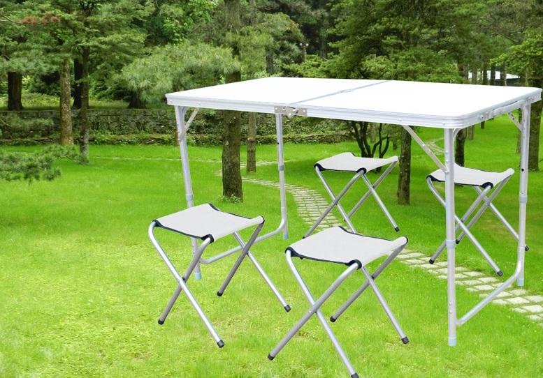 【露營趣】中和 TNR-066 鋁合金休閒桌 摺疊桌 野餐桌 露營桌 蛋捲桌(不含椅子)