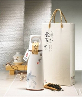 【弘鶯陶】瓷紀百合伴手禮盒(鶯歌陶瓷茶葉罐+文山包種茶75g)
