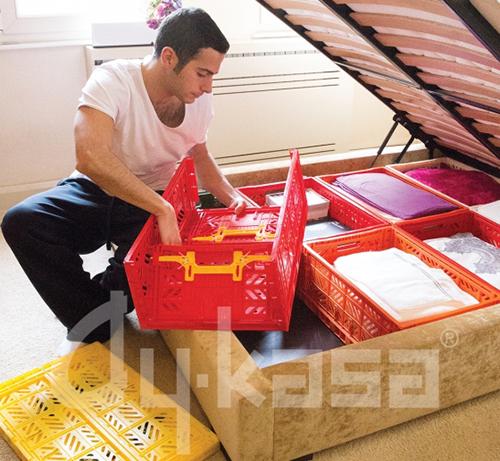 【不挑色?限時8折】(中大)Ay Kasa土耳其多功能折疊 組合 多色專利摺疊收納箱(中大),收納 整理 旅遊 玩具箱 水果籃 工具箱 物流箱 置物箱 鞋櫃 衣物籃【Limiteria】