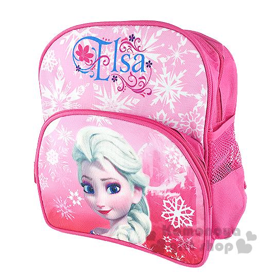 〔小禮堂〕迪士尼 冰雪奇緣 兒童後背包《S.粉.Elsa.雪花》