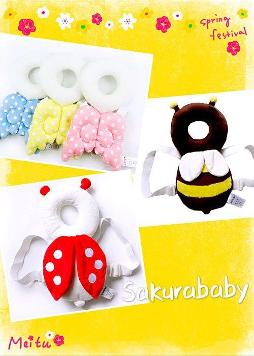 學步寶寶 頭部保護墊 護頸枕 可調式揹帶 居家安全 櫻花寶寶