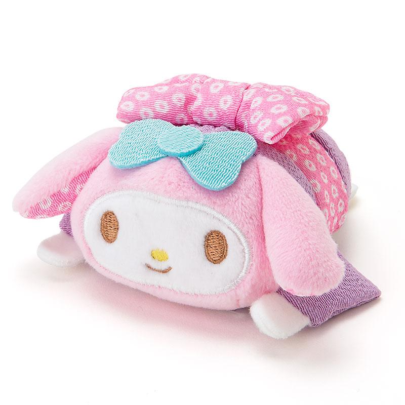【真愛日本】15092400019茲姆茲姆娃S-MD和服紫粉結 三麗鷗家族 Melody 美樂蒂 茲姆娃 娃娃 擺飾 美樂蒂