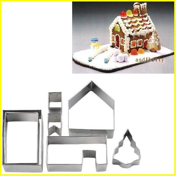 asdfkitty可愛家☆日本CAKELAND薑餅屋不鏽鋼壓模型-煙囪 房屋 聖誕樹-日本製
