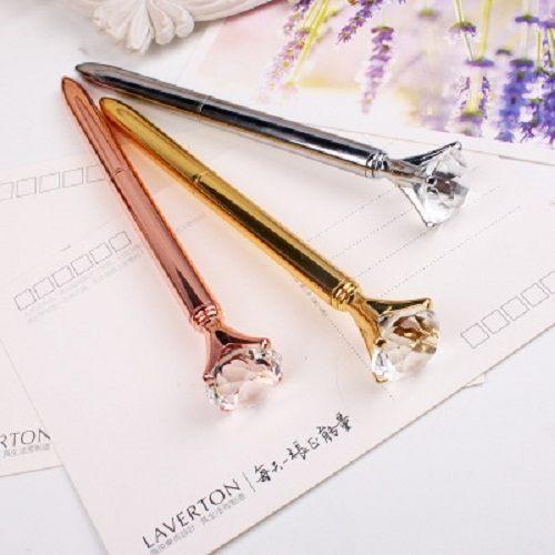 PS Mall 金屬水晶寶石筆大鑽石筆 原子筆 【J1188】