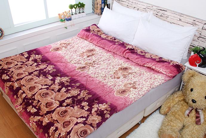 法萊絨/法蘭絨暖暖被/厚毯被 花開富貴《GiGi居家寢飾生活館》