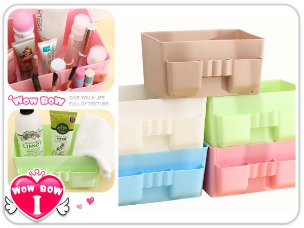 ?愛挖寶? 【SB-19】塑料多格化妝品收納盒/辦公桌雜物整理收納/易清潔化妝盒