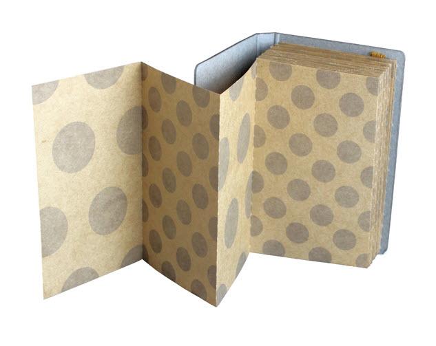 *小徑文化*日本進口山櫻紙品 +lab 折疊備忘錄 - 水玉 ( 351107 )