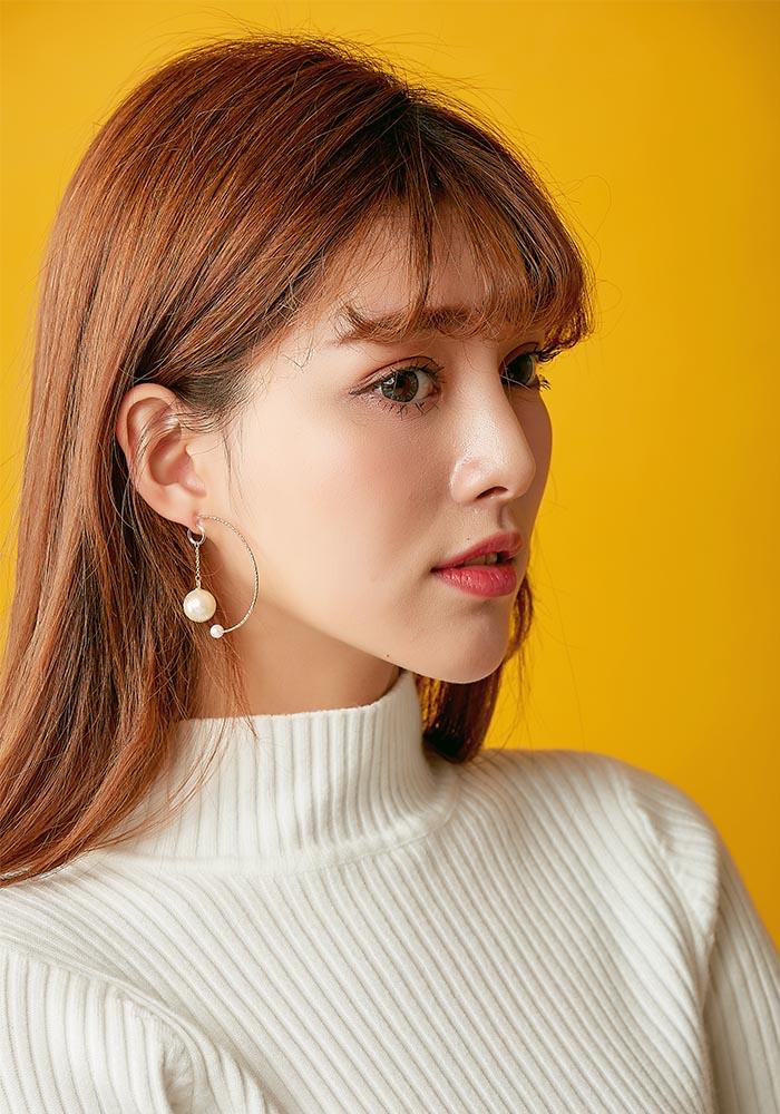 韓國耳環,夾式耳環,耳夾,矽膠夾耳環,垂墜耳環,珍珠耳環,C圈耳環,大耳環