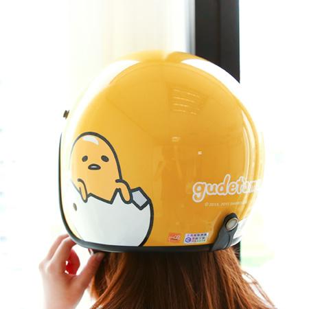 正版蛋黃哥全罩安全帽 三麗鷗 機車 四分之三 騎士帽 台灣製 標準尺寸【N200768】