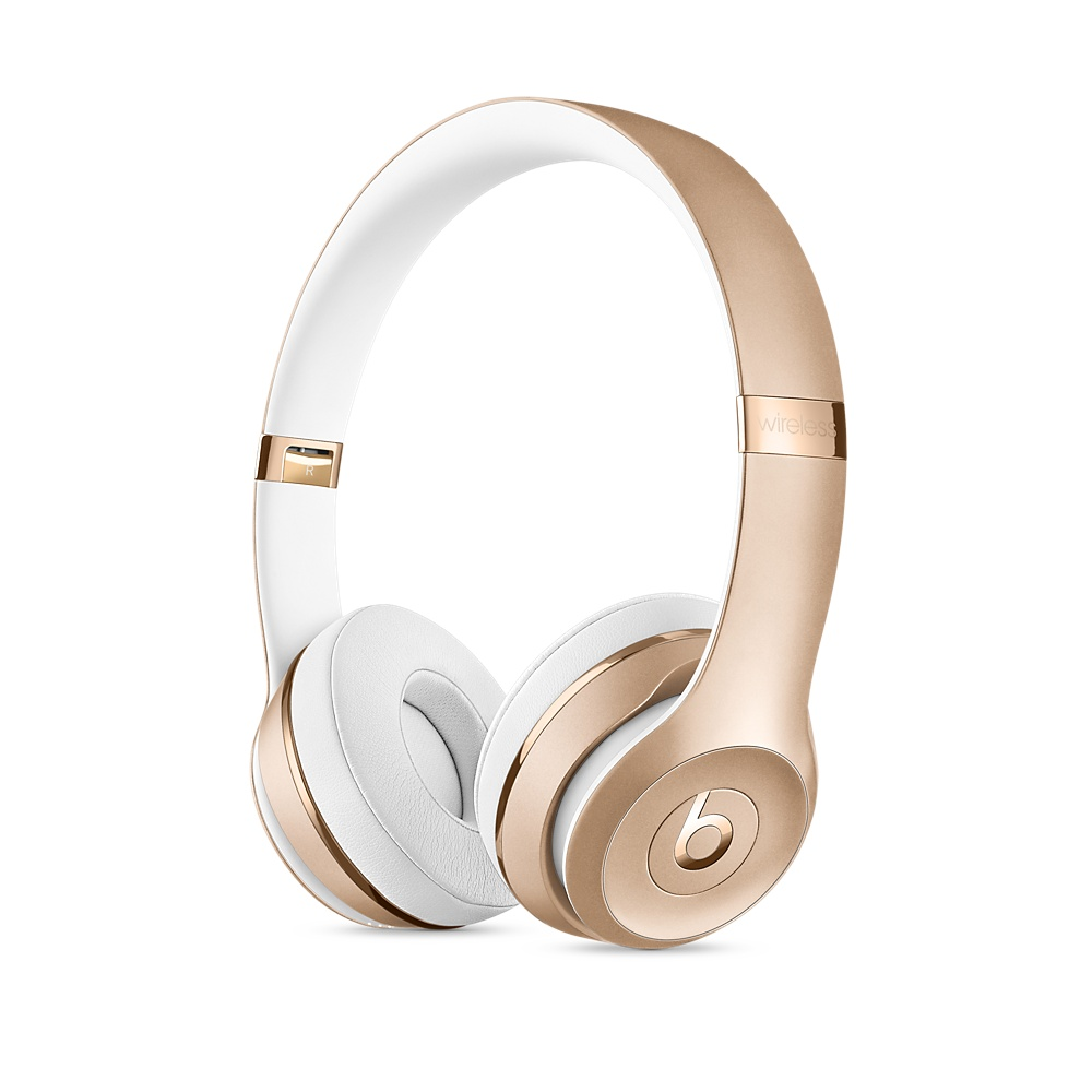 先創公司貨/APPLE公司保固1年『 Beats Solo 3 Wireless 金色 』耳罩式無線藍牙耳機/藍芽/另售studio