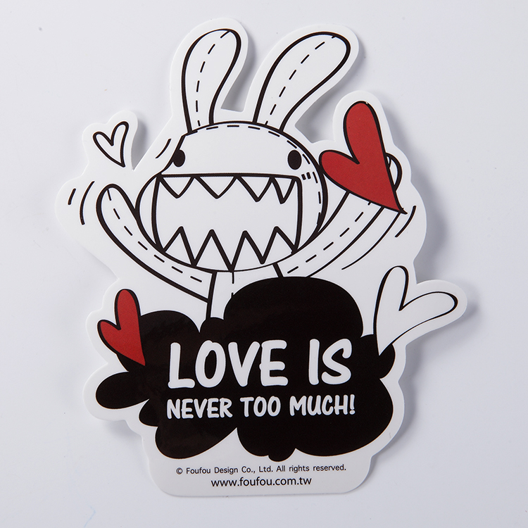 《Foufou》防水貼紙 - Love is never too much.