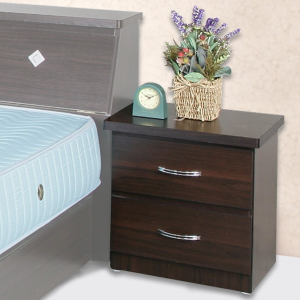 《YoStyle》艾莉二抽床頭櫃(胡桃木紋)