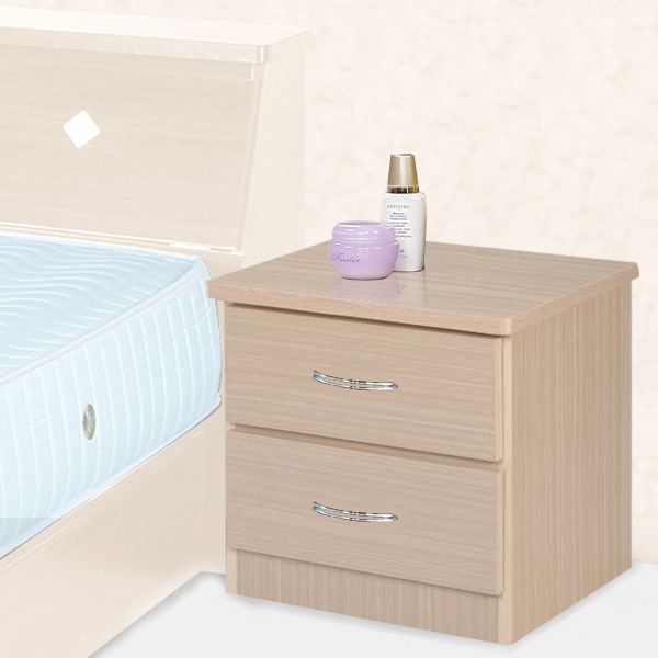 YoStyle 艾莉二抽床頭櫃(二色任選) 收納櫃 床邊櫃 置物櫃