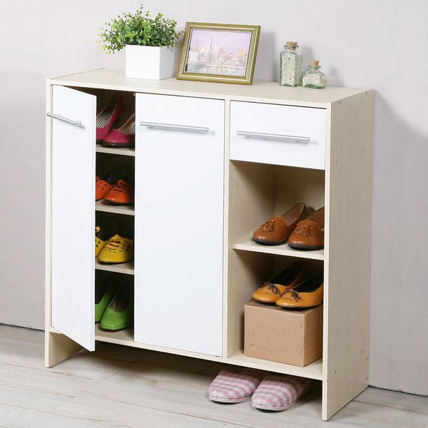 YoStyle 日式二門一抽鞋櫃-楓木