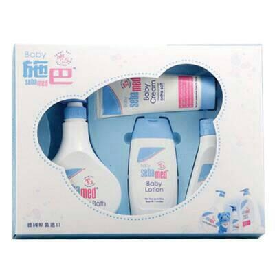 ★衛立兒生活館★施巴 Seba med PH5.5 粉藍熊語禮盒