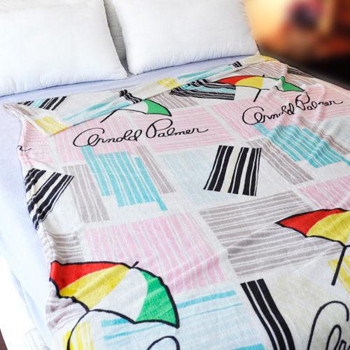 【拼貼混搭】雨傘牌 法蘭絨舒眠保暖毛毯 ◆ HOUXURY台灣製