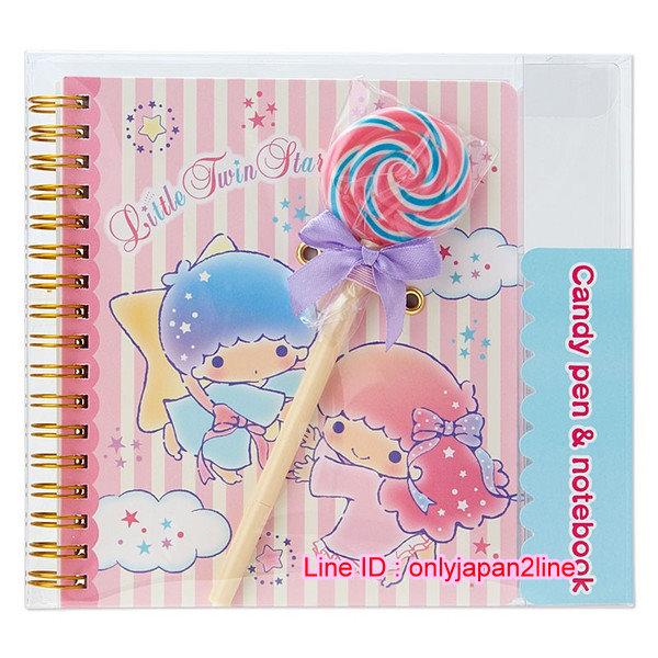 【真愛日本】16102100057筆記本附棒棒糖原子筆-TS  三麗鷗家族 Kikilala 雙子星 文具用品 便條紙 筆記本