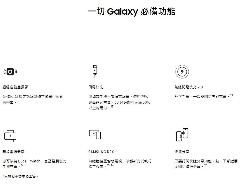 一切 Galaxy 必備功能