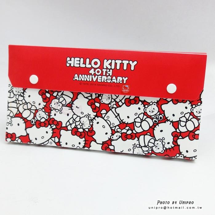 【UNIPRO】Hello Kitty 40 周年紀念 A5六層風琴夾 資料夾 資料收納盒 三麗鷗正版授權