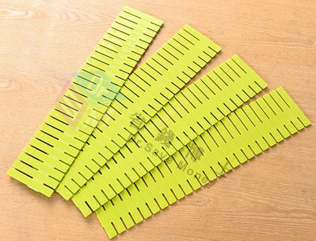 抽屜隔板自由突破分類組合伸縮收納格內衣抽屜整理分隔板4個裝 49元
