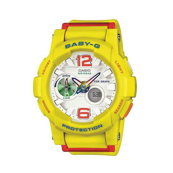 CASIO BABY-G BGA-180-9B亮麗多彩雙顯流行腕錶/44mm