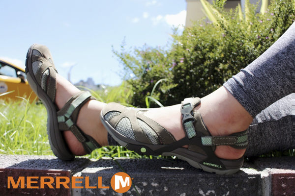 MERRELL AZURA WRAP 多功能涼鞋 軍綠 健行鞋│休閒鞋│水陸兩棲