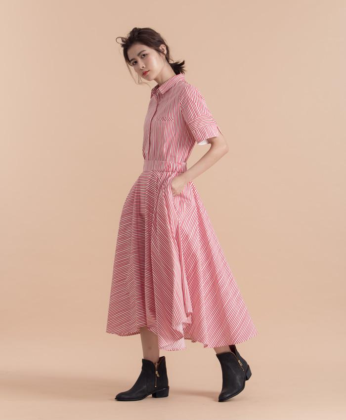 迷幻蘑菇流線條紋造型圓裙