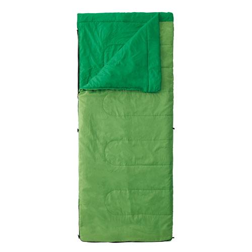 【露營趣】中和 附手電筒 Coleman 表演者II萊姆綠睡袋/C15 信封型睡袋 化纖睡袋 纖維睡袋 可全開併接cm-27260