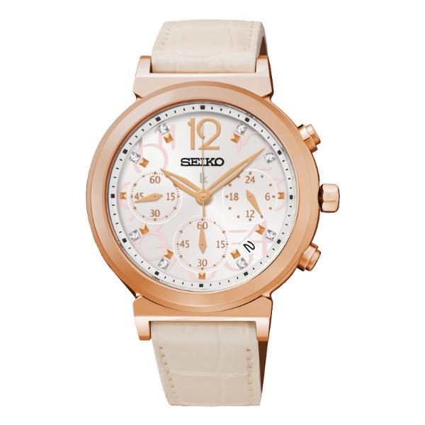 Seiko Lukia V175-0AJ0L(SSC882J1)溫暖麗人太陽能計時腕錶/白面35mm
