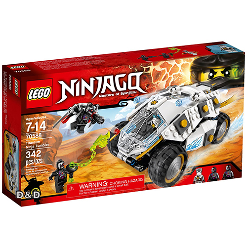 樂高積木LEGO《 LT70588 》NINJAGO 旋風忍者系列 - 鈦忍者衝鋒巨輪戰車