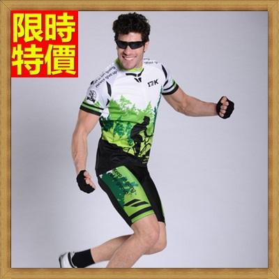 短袖自行車衣套裝含腳踏車服+單車褲-超薄透氣彈力柔軟男運動服69u2【獨家進口】【米蘭精品】