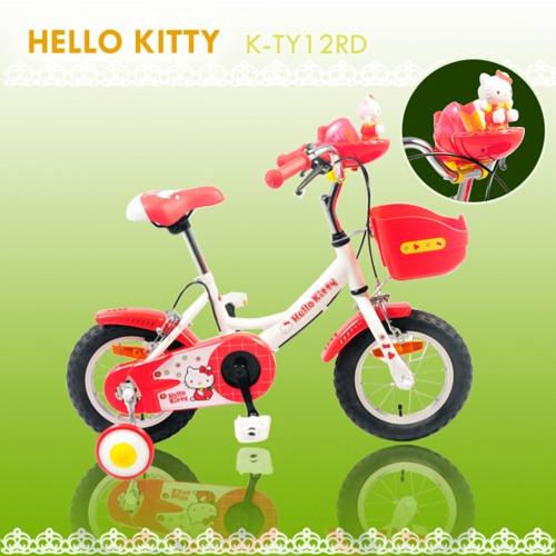 【7號公園自行車】JOKER 傑克牌 K-TY12RD Hello Kitty 12吋小花音樂童車 白色