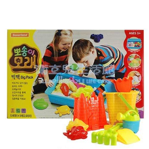 ★衛立兒生活館★韓國 Angel Sand 5色動力沙模具DIY組-海洋動物贈沙灘玩具組(隨機出貨)
