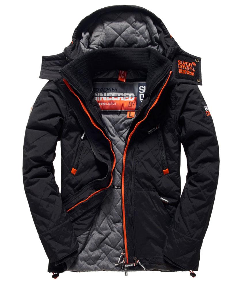 [男款]英國代購 極度乾燥 Superdry Arctic Wind Yachter 男士風衣戶外休閒外套 防水防風 黑色