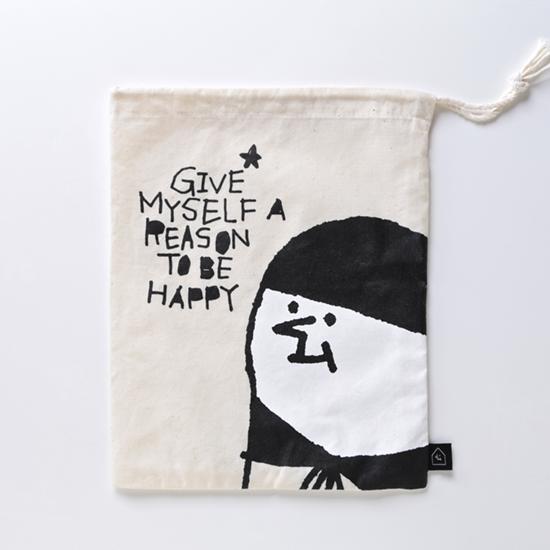 給自己一個快樂的理由 中形收納袋