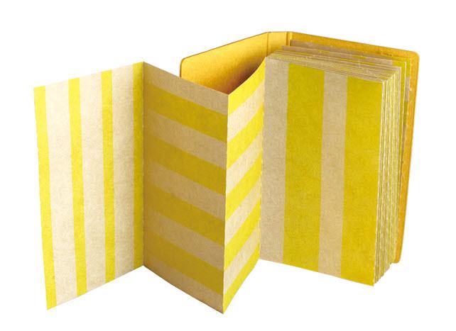 *小徑文化*日本進口山櫻紙品 +lab 折疊備忘錄 - 條紋 ( 351108 )