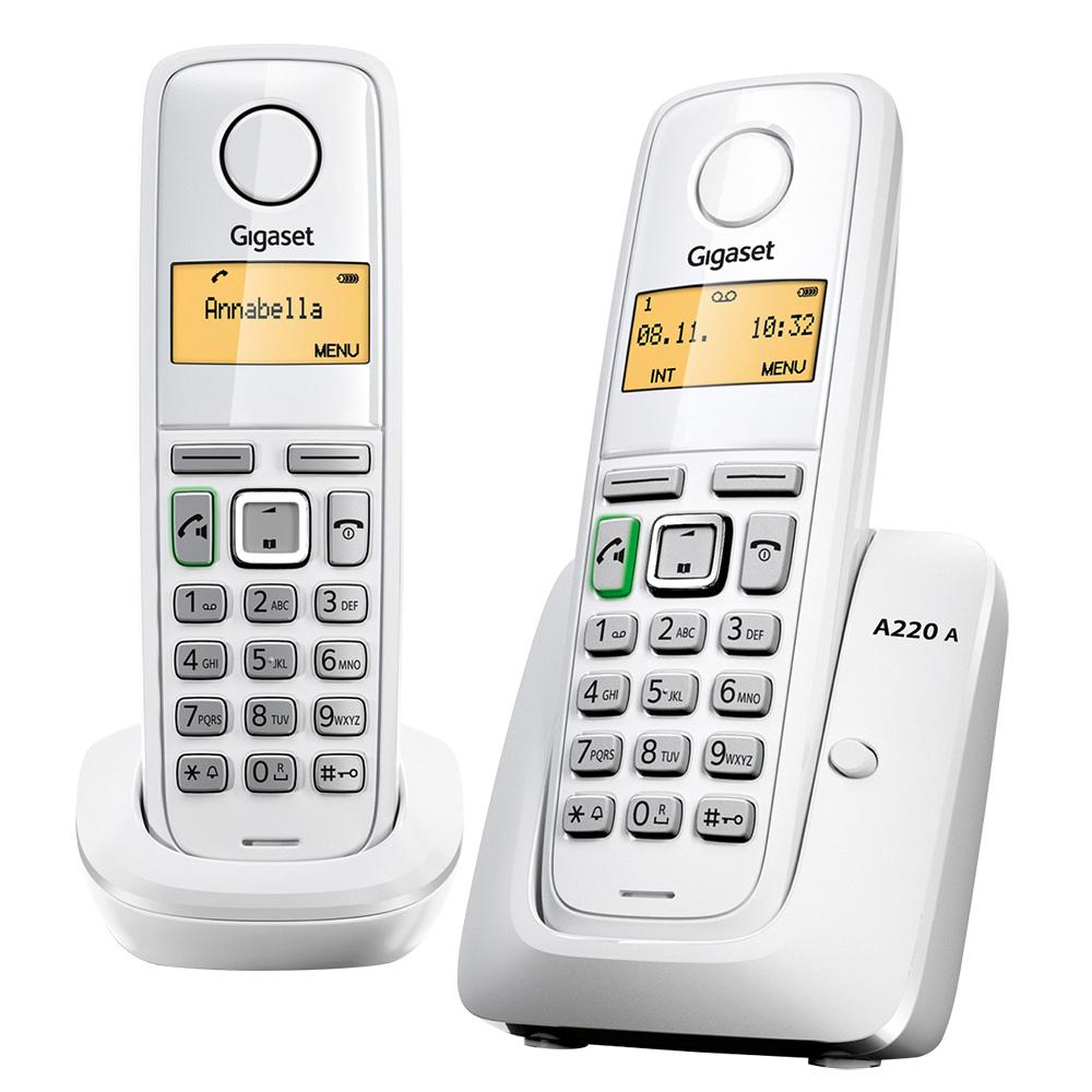 德國Gigaset 數位無線電話 A220DUO/W