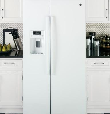 美國GE奇異 GSS25GGWW 對開門冰箱(733L))【零利率】※熱線07-7428010