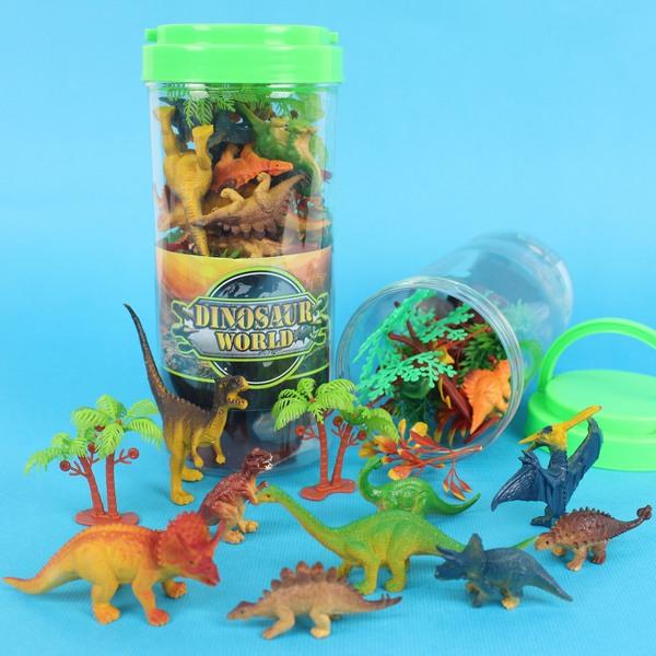 仿真恐龍模型筒 SY9306 恐龍公仔 恐龍造景/一筒入{促180}侏羅紀恐龍玩具~睿