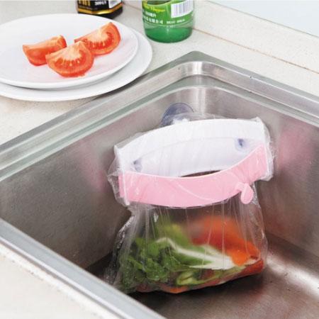 強力吸盤垃圾袋架 吸盤水槽垃圾袋架 廚餘 垃圾袋 固定架 置物架 居家 廚房【B062270】