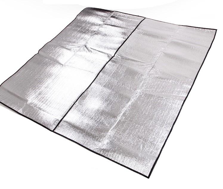 【露營趣】中和 TNR-135 300x300 帳篷用 雙面鋁箔墊 鋁箔墊 防潮墊 露營墊 野餐墊 地墊 睡墊