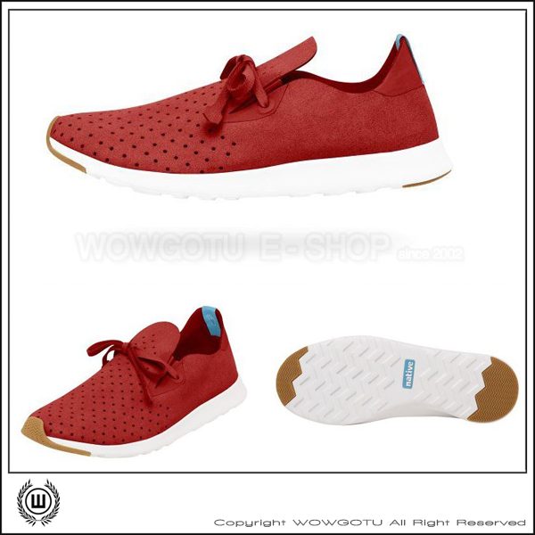 NATIVE SHOES - APOLLO MOC - TORCH RED/SHELL WHITH (6400)